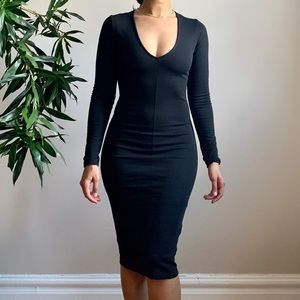 ZARA - Trafaluc Black Pencil Dress